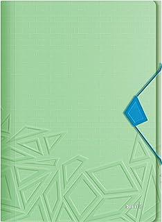 Leitz teczka 3-klapowa, mieści do 150 arkuszy A4, elastyczne zamknięcie, elastyczne tworzywo sztuczne, zielony, Urban Chic...