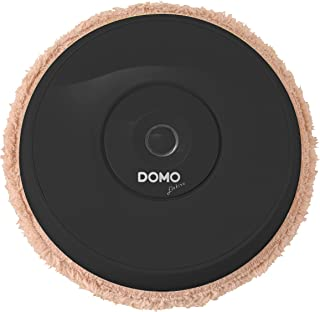 DOMOオートワイパー 床拭き掃除ロボット(モップ付 / 繰り返し利用 / 軽量薄型 / 簡単お手入れ) ブラック