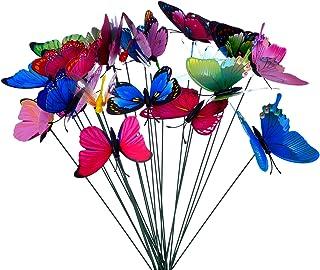 24 Piezas Mariposas Libélulas Coloridas de Jardín Adornos