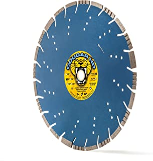 """Cougar Heavy-Duty 14-Inch (14"""") X .125 X 1""""-20MM Wet/Dry Diamond Blade for Concrete (up to 6,000 psi), Masonry, Asphalt and Hard Stone Material"""