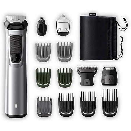 Philips MG7720/18 Recortadora 14 en 1 Maquina recortadora de barba y Cortapelos para hombre, óptima precisión, tecnología Dualcut, autonomía de 120 minutos, batería, Negro/Plata