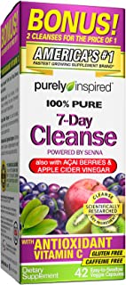 Purely Inspired Organic 7 Day Cleanse, Unique Senna Leaf Extract Formula with Antioxidant (Vitamin C), Superfruits, Probio...