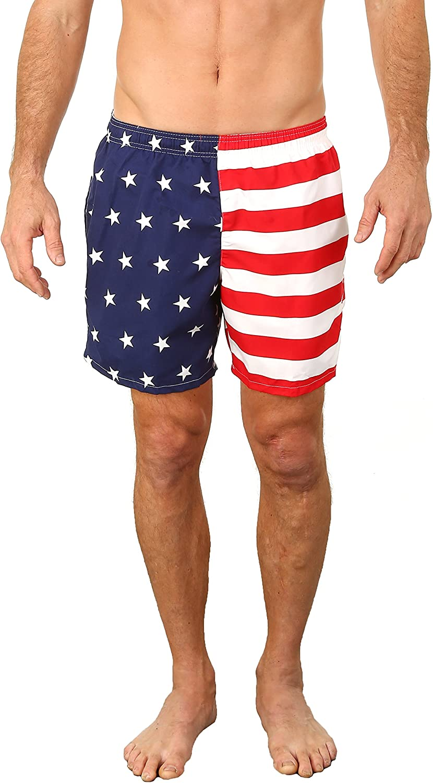 UZZI Men's Marti Shorts Swim Trunks Quick Dry Active