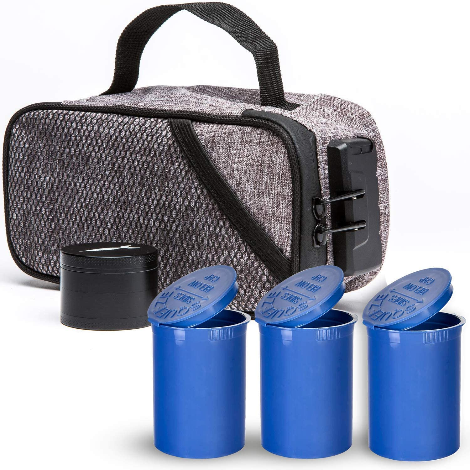 Purchase Smell Proof Max 72% OFF Case with Lock Lining Activated Includes - Carbon