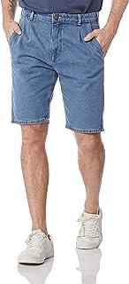Bermuda Jeans Masculina Tradicional De Algodão Hering, Azul Claro, 48 Plus Size