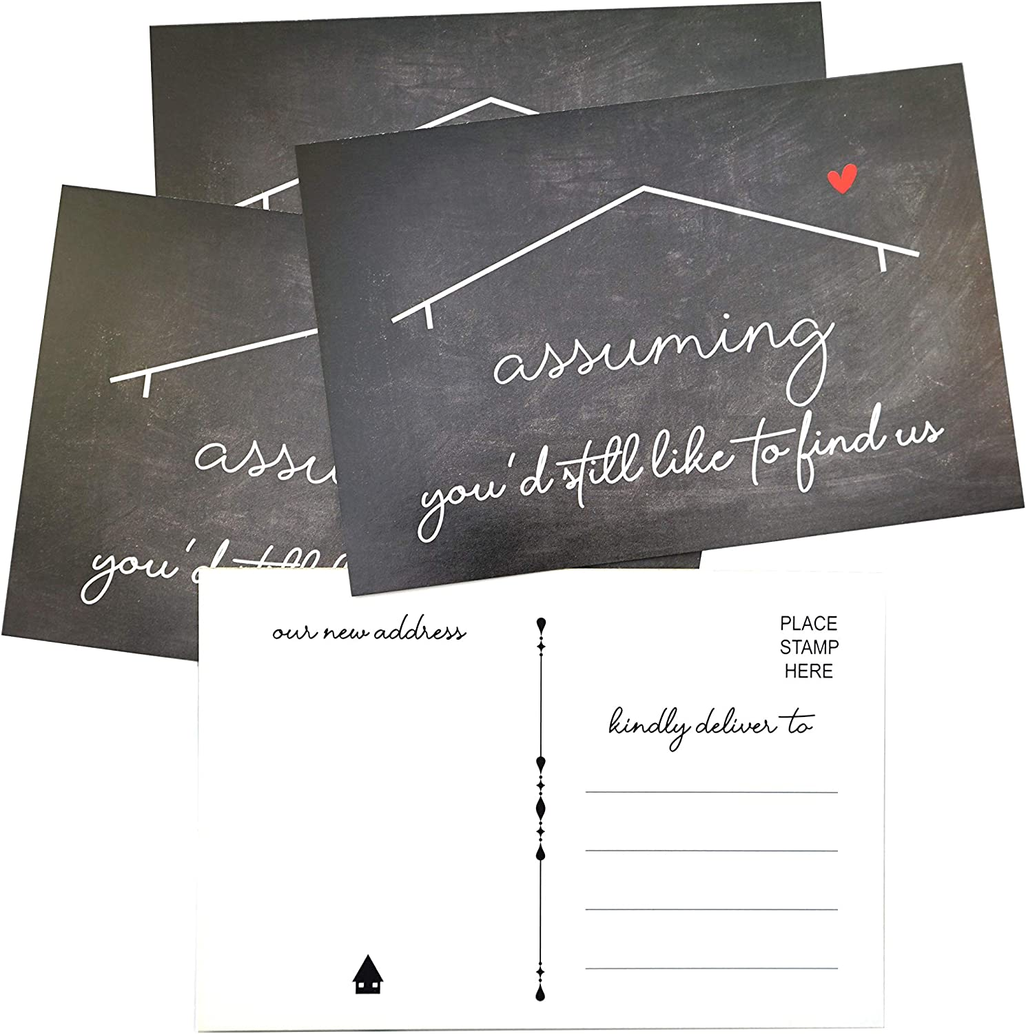 RXBC2011 We've moved postcards Chalkboard Moving Announcement ca Dedication SEAL limited product