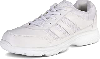 Action Shoes Synergy Men's White Synthetic School Shoes -UK/India 8
