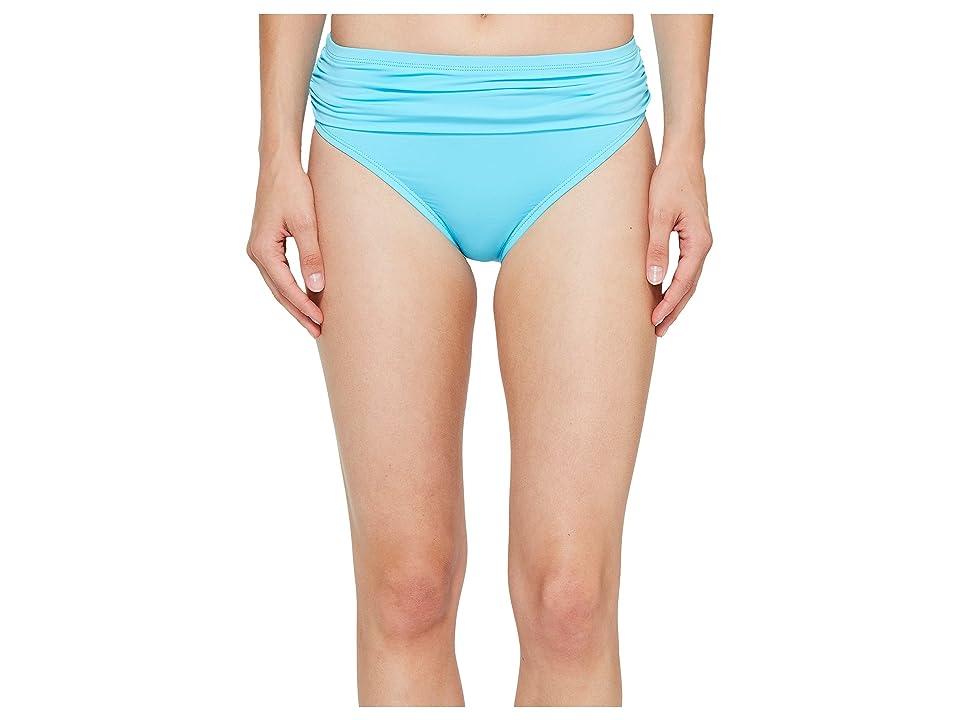 Tommy Bahama Pearl High-Waist Hipster Bikini Bottom (True Turquoise) Women