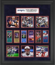 """Tom Brady New England Patriots Framed 23"""" x 27"""" 6-Time Super Bowl Champion Ticket Collage - NFL Player Plaques and Collages"""