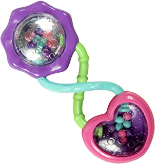 Bright Starts Rattle and Shake Barbell Toy - Pretty in Pink, Ages 3 Months +