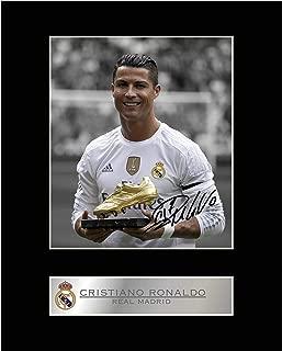 iconic pics Cristiano Ronaldo Signed Mounted Photo Display Real Madrid