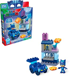 Mega Bloks PJ Masks Catboy vs. Ninjalino with Building Blocks, Building Toys for Toddlers (26 Pieces)