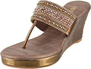 Metro Women Antic Gold Synthetic Sandals (35-3134) 35-3134-28-ANTIC Gold