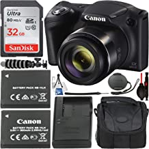Canon PowerShot SX420 is Digital Camera with Essential Accessory Bundle – Includes: SanDisk Ultra 32GB SDHC Memory Card, Extended Life Replacement Battery, Carrying Case, Flexible Tripod & More