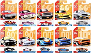 Hot Wheels Target Exclusive 50th Anniversary Throwbacks Set of 10