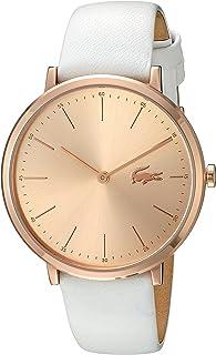 Lacoste 2000949 - Reloj casual de cuarzo para mujer, dorado y cuero, blanco -