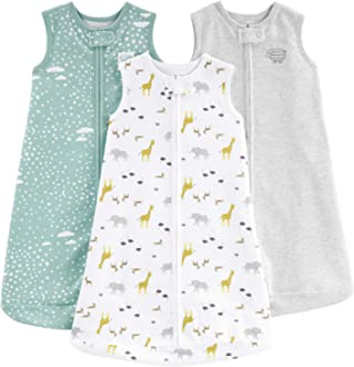 Simple Joys by Carters 3-Pack Cotton Sleeveless Sleepbag Wearable Blanket Mixte b/éb/é