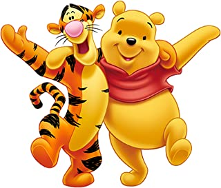 Winnie The Pooh and Tigger Iron On Transfer for T-Shirts & Other Light Color Fabrics #1