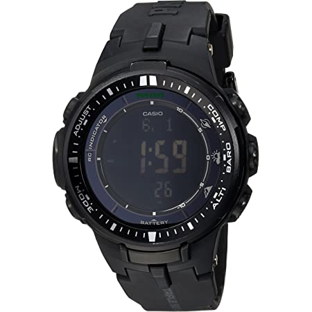 Casio Men's Pro Trek PRW-3000-1ACR Solar Powered Black Sport Watch