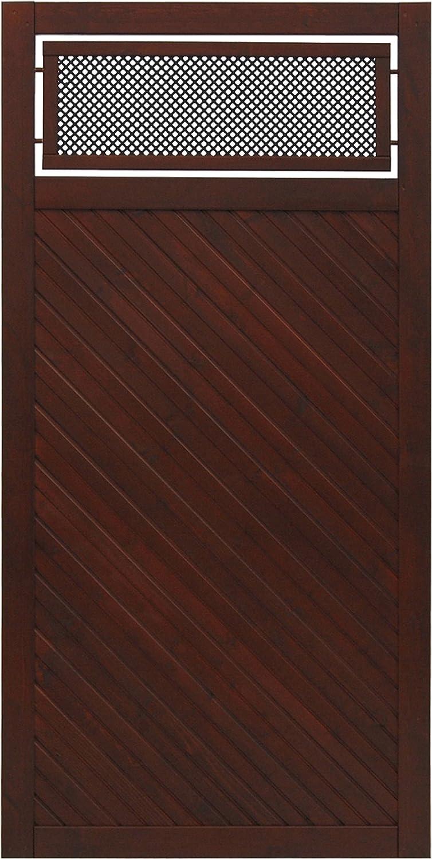 Taglio in legno Andrewex 180 x 90, verniciato, marrone, Privacy, pannello di scherma