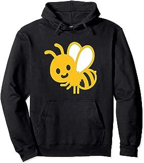 Emoji Buzzing Bee Honey Yellow Bumblebee Emoticon Texting Pullover Hoodie