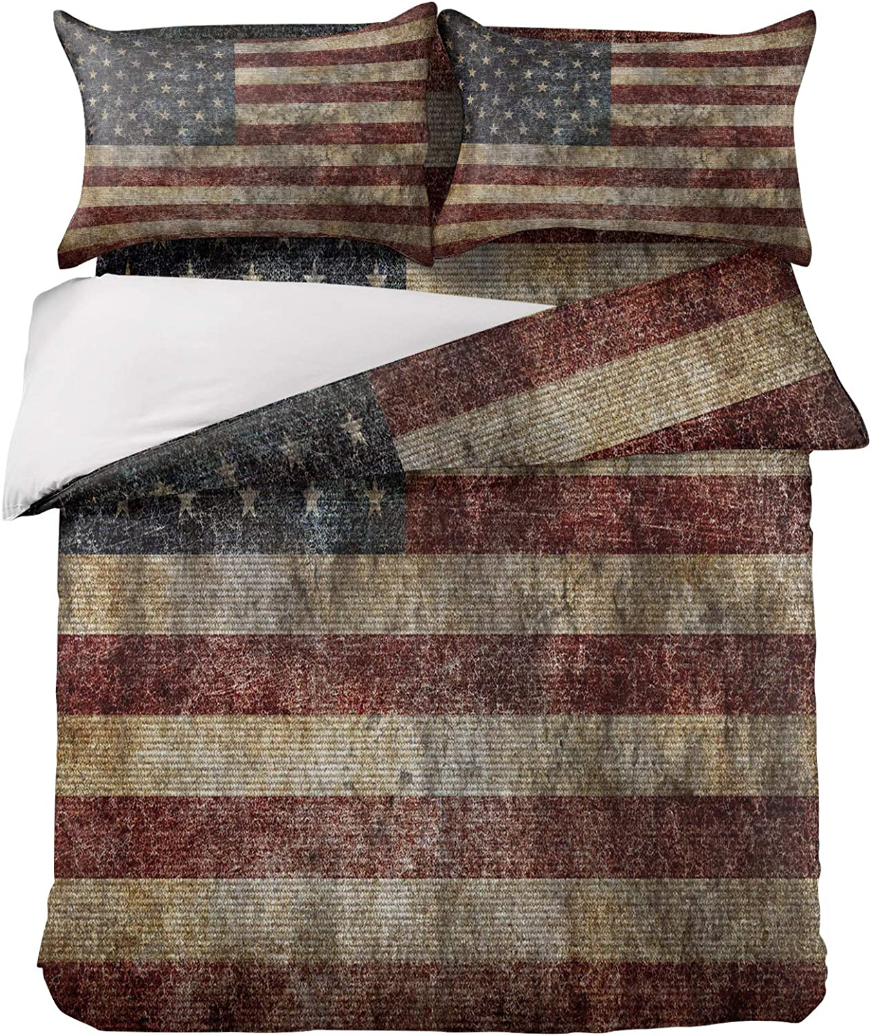 Queen Duvet Cover Set 4 Pieces Max 68% OFF Vintage and Stars Purchase Strip American