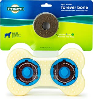 PetSafe Forever Bone Dog Chew Toy, Treat Holding Nylon and Rubber Textured Dog Toy for Aggressive Chewers