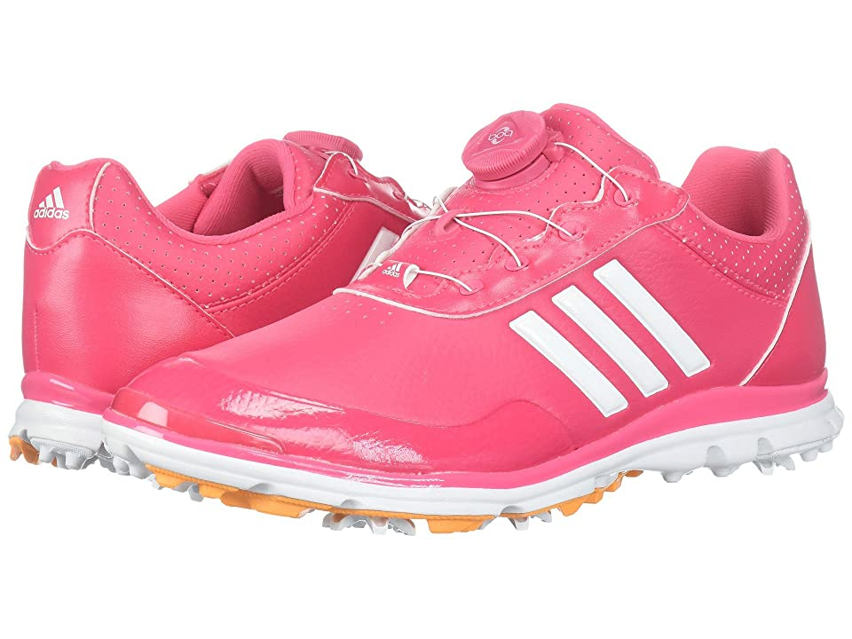 adidas Golf Adistar Lite Boa (Real Pink/Footwear White/Real Gold) Women's Golf Shoes