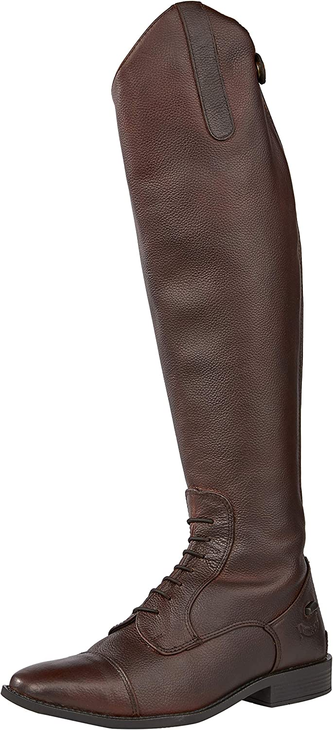 Rhinegold New sales Elite Luxus Brown Riding Long-awaited Laced Boot Leather