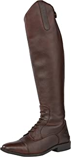 Rhinegold Elite Luxus Brown Laced Leather Riding Boot