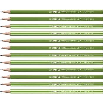 Bleistift STABILO Othello 12er Pack Härtegrad HB mit Radierer Bruchsichere Mine