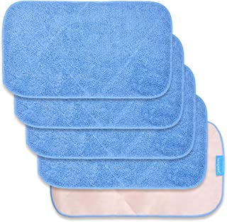 KEEPOW Microfiber Mop Cloth Refills for MR. SIGA Professional Microfiber Mop, Double Side use, Wet & Dry Mopping, Pack of 5