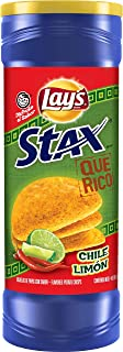 Lay's Stax Chile Limon Flavored Potato Crisps,5.5 Ounce