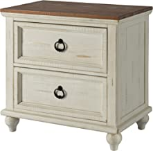 Martin Svensson Home 6908722 Pine Creek Nightstand Antique White and Honey Wash