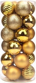 iPEGTOP Shatterproof Christmas Ball Ornaments - 24ct 60mm/2.4