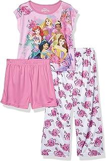 Disney Girls' Multi Princess 3-Piece Pajama Set