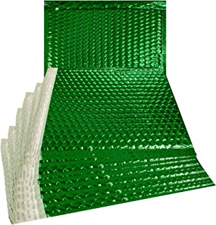 ABC Metallic Bubble mailers 12.75 X 10.5. Green Padded envelopes 12 3/4 x 10 1/2. Large Glamour Bubble mailers Peel and Seal. Padded mailing envelopes for Shipping. Pack of 10.