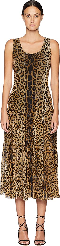 Long Tank Dress in Animal Print