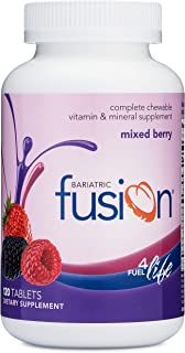 Bariatric Fusion Mixed Berry Complete Chewable Bariatric Multivitamin For Bariatric Surgery Patients Including Gastric Byp...