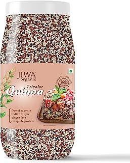 JIWA healthy by nature Organic Tricolor Quinoa, 1 Kg (Certified Organic & Gluten Free)