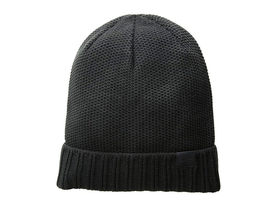 Nike NSW Beanie Honeycomb Pom (Black/Black) Beanies