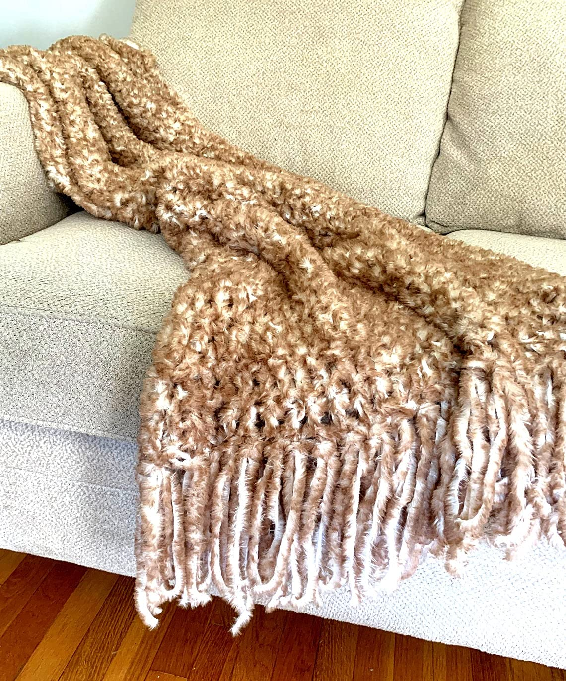 Throw Blanket Luxurious Faux Tan and Max OFFicial shop 42% OFF Fur Cream