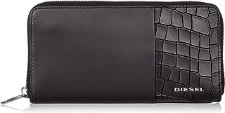 (ディーゼル) DIESEL メンズ ウォレット クロコ型押しカウレザー ラウンドジップ 長財布 X06489P2392
