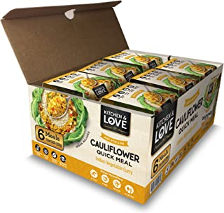 Kitchen & Love Indian Vegetable Curry Cauliflower Quick Meal 6 Pack