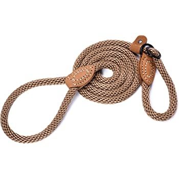 Mile High Life | Strong Soft Dog Slip Leash | Premium Poly Cotton Soft Comfortable Rope Dog Leash Dog Lead | Supports Strong Pulling Large Medium Small Dogs 4/5/6 Feet