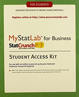 MyLab Statistics with eText for Business Statistics -- Standalone Access Card