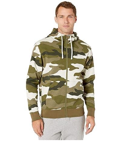Nike NSW Club Hoodie Full Zip Camouflage (Medium Olive/Medium Olive/Summit White) Men