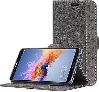 Huawei Mate SE Case, Honor 7X Wallet Case, ProCase Folio Folding Wallet Case Flip Cover Protective Case for Huawei Honor 7X Huawei Mate SE, with Card Holders Kickstand -Gray