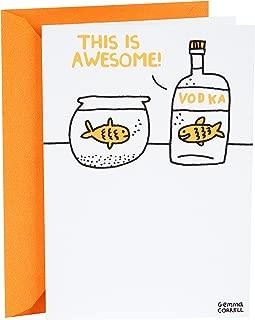 Hallmark Shoebox Funny Birthday Card (Vodka Goldfish)