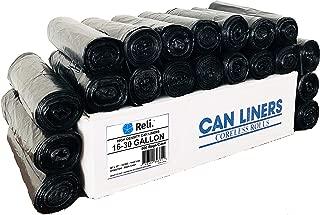 Reli. 16-25 Gallon Trash Bags (500 Count Bulk) Black Garbage Bags 25 Gallon Strength (16 Gallon - 20 Gallon - 25 Gallon Garbage Bags Capacity) - Bulk Can Liners 16 Gal - 25 Gal